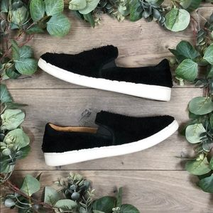 UGG Black Ricci Faux Shearling Sneakers (12)